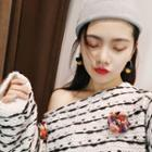 Knit Ball Earring