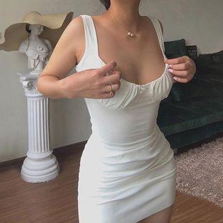 Plain Mini Bodycon Tank Dress