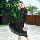 Floral Pleated Midi Dress