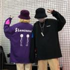 Couple Matching Lettering Printed Pullover