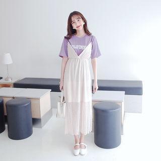 Pinafore Empire Maxi Dress