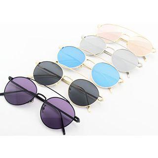 Round Double Bridge Sunglasses