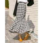 Check A-line Maxi Skirt