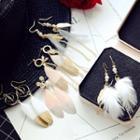 Feather Drop Earring