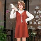 Mock Two Piece Tasseled Dress