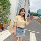 Short-sleeve Cherry Print Shirt