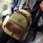 Corduroy Panel Backpack