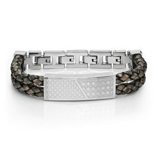 Cross Leather Bracelet (coppery) Coppery - One Size