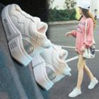 Fleece-lined Faux-leather Sneakers