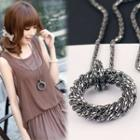 Metal Ring Necklace