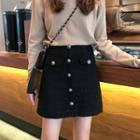 Mini Tweed A-line Skirt