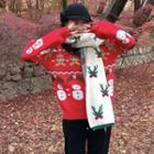 Christmas Knit Sweater / Knit Scarf