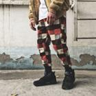 Plaid Harem Jogger Pants