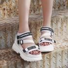Letter Strap Platform Sandals