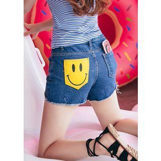 Pocket-detail Denim Shorts