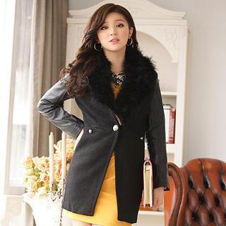 Faux-fur Collar Coat