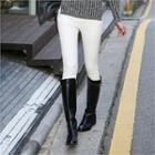 High-waist Brushed-fleece Skinny Pants