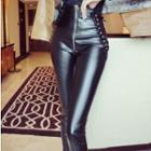 Faux Leather High-waist Skinny Pants