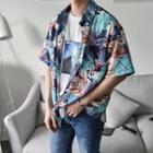 Parrot Print Short-sleeve Shirt