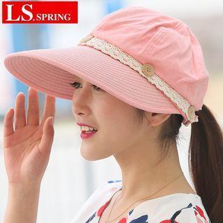 Lace Trim Sun Hat