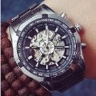 Retro Bracelet Watch Silver Strap - One Size