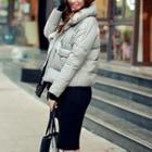 Stand-collar Zip Down Jacket