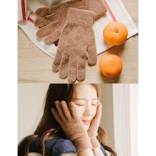 Colored Knit Gloves