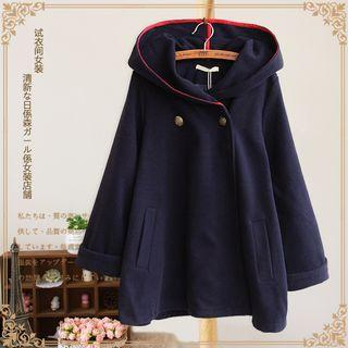 Two-button Hooded Coat