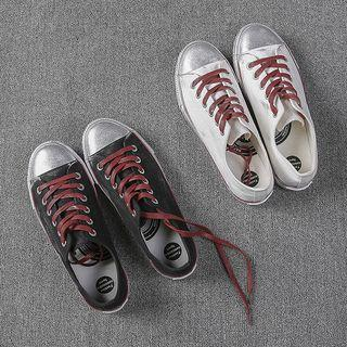 Canvas Contrast Strap Sneakers