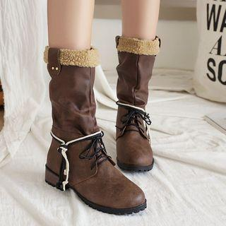 Lace-up Tall Snow Boots
