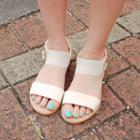 Ankle-strap Zip Flat Sandals