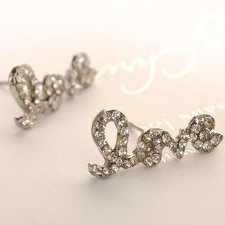 Love Earrings  Silver - One Size