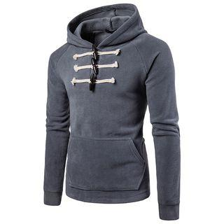 Long-sleeve Hooded Toggle Top
