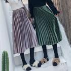 Mock Two-piece Inset Legging Pleated Skirt