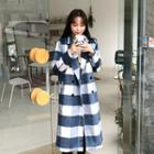 Double-breasted Gingham Coat