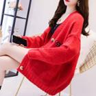 Embroidered Oversize Cardigan