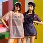 Round-neck Plain Oversize Top / Printed Letter Tank Top
