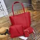 Faux-leather Tote Set