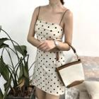 Dotted Strappy Sheath Dress