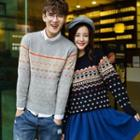 Patterned Couple Sweater