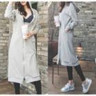 Hooded Zip Pullover Midi Dress