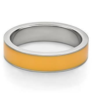 Orange Enamel Steel Ring