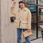 Fleeced Buttoned Coat