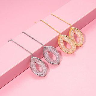 Alloy Oval Dangle Earring 1 Pair - Gold - One Size