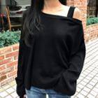 Asymmetric Off-shoulder Knit Top