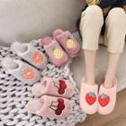 Fruit Embroidered Slippers