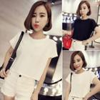 Plain Cropped Short Sleeve T-shirt
