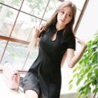 Short-sleeve Mandarin Collar A-line Dress