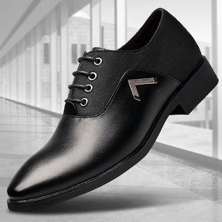 Genuine Leather Pointed Oxfords