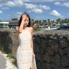 Halter Lace Maxi Sun Dress